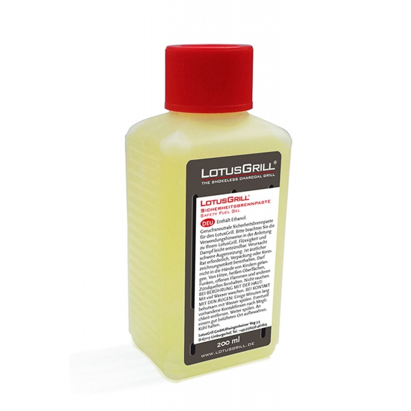 Gel combustible seguro para barbacoa Lotusgrill