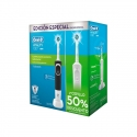 Pack Cepillos Dental Eléctrico Braun Oral B Duo Vitality 100 Cross Action