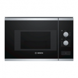 Horno microondas integrable sin grill Bosch BFL520MS0 Cristal Negro Inox 20L