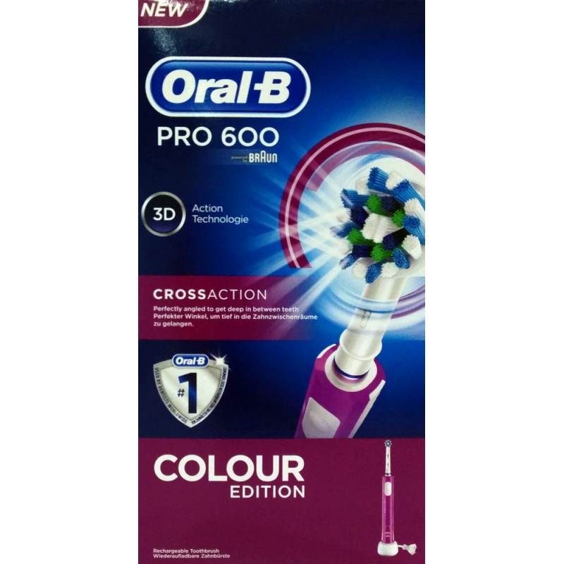 Cepillo Dental Eléctrico Braun Oral B 600 CrossAction Morado. Loading zoom 16468c7c313d