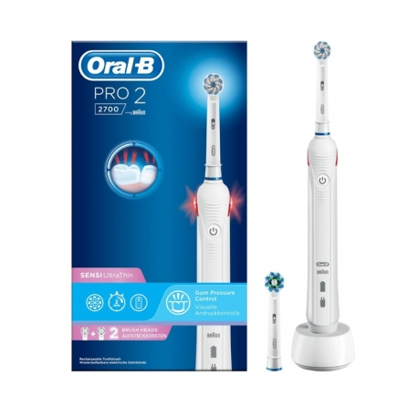 Cepillo Dental Eléctrico Braun Oral B Pro 2 2700 Blanco
